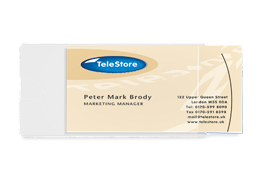 Card Pockets, short-side opening
